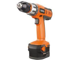 AEG Aku vŕtací skrutkovač l 12 V- BS 12 X-R + Hliníková skladacia taburetka (62666) + Viacpolohový hliníkový rebrík + skladacia pozinkovaná plošina (062876)