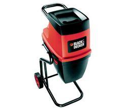 BLACK & DECKER Drvic záhradného odpadu GS2400 - 2400 W + Plotostrih 390 W Comfort AHS 4-16