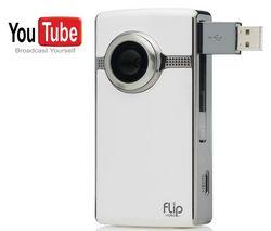 FLIP Mini videokamera Ultra HD - biela + Vodotesné púzdro