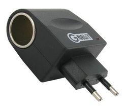 G-MOBILITY Sietový adaptér pre nabíjacku do auta + Kovovo sivé puzdro pre GPS s displejom 4,3