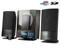 H&B Mikroveža CD/MP3 USB/SD HF-330i + Dynamický mikrofón
