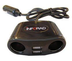 INFORAD Dvojitá USB zásuvka na zapaľovač