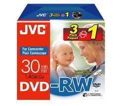 JVC DVD-RW 8cm VD-W14N3P1 30 min./1.4 GB (Balenie 3 + 1 zdarma)