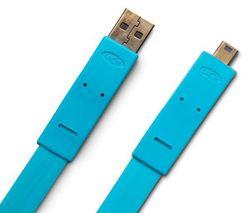 LACIE Kábel USB 2.0 A samec na mini B Flat Cables - 1,2m - modrý (130857)