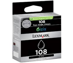 LEXMARK Atramentová náplň 108 - Cierna