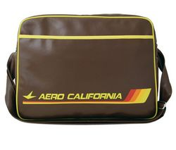 LOGOSHIRT Aero California Taška cez plece 29cm Hnedá