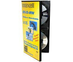 MAXELL DVD Kamera Travelpack - DVD-RW 8 cm 1,4 GB 30 mn (balenie 4 kusy)