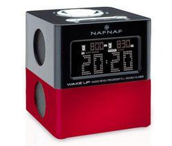 NAF NAF Rádiobudík WAKE UP V2 červený