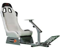 PLAYSEATS Hrácske kreslo A1GP - biele + Volant Universal Challenge Racing Wheel