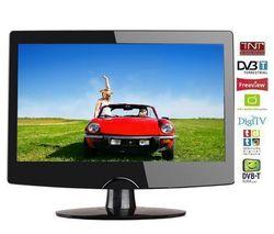 Q-MEDIA Kombinovaný televízor LCD/DVD Q19A2D + Kábel HDMI - Pozlátený 24 karátov - 1,5 m - SWV3432S/10