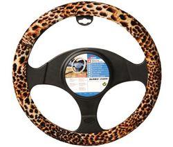 RACE SPORT Potah na volant Leopard look (37-39 cm)