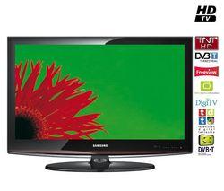 205d16b01 SAMSUNG LCD televízor LE32C450 + Kábel HDMI 1.3 + Stolík TV E1000 čierne  sklo + Predlžovačka