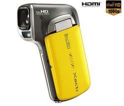 SANYO HD videokamera Xacti CA100 žltá + Brašna + Batéria DB-L80AEX + Pamäťová karta SDHC 8 GB