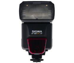 SIGMA Blesk EF-530 DG ST + Nabíjačka 8H LR6 (AA) + LR035 (AAA) V002 + 4 Batérie NiMH LR6 (AA) 2600 mAh + Sada Štúdio foto + Mini statív