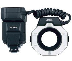 SIGMA Makroblesk EM-140 DG + Nabíjačka 8H LR6 (AA) + LR035 (AAA) V002 + 4 Batérie NiMH LR6 (AA) 2600 mAh
