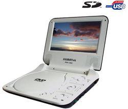SIGMATEK Prenosný prehrávač DVD/XviD/MPEG4 USB/SD 7