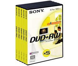 SONY DVD+RW 4,7 GB (5 kusov)