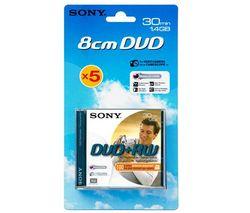 SONY DVD+RW 8cm 5DPW30A/BLI 30min/1,4 GB (balenie 5ks)