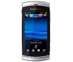 SONY ERICSSON Vivaz lunárna strieborná  + Slúchadlo Bluetooth Blue design - čierne + Pamäťová karta Micro SD HC 8 GB + adaptér SD
