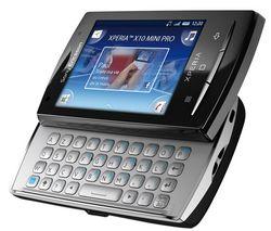SONY ERICSSON Xperia X10 mini pro noir + Univerzálna nabíjačka Multi-zásuvka - Swiss charger V2 Light