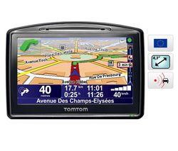TOMTOM GPS Go 730 Európa + Adaptér do auta / sieťový SKP-PWR-ADC + Kovovo sivé puzdro pre GPS s displejom 4,3