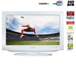 TOSHIBA Kombinácia LCD/DVD 19DV734G biela  + Nástenný držiak LCD 5
