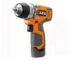 AEG Aku vŕtací skrutkovač 12 V + baterka zdarma - BS 12 C IQ + Viacpolohový hliníkový rebrík + skladacia pozinkovaná plošina (062876)