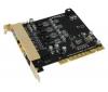 AUZENTECH Audio karta 7.1 X-Raider - PCI + Flex Hub 4 porty USB 2.0