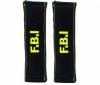 BC CORONA 2 potahy na bezpecnostné pásy FBI čierne
