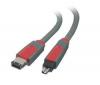 BELKIN Kábel FireWire 6 pins samec / FireWire 4 pins samec - 1,8 m (CF1100AED06)