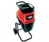 BLACK & DECKER Drvic záhradného odpadu GS2400 - 2400 W + Kožené záhradné rukavice 570-20 - veľkosť 9/L