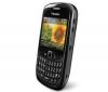 BLACKBERRY Curve 8520 čierny + Silikónové puzdro čierne + Ochranná fólia + Slúchadlo Bluetooth Blue design - čierne