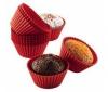 BODUM 12 foriem na muffiny z cerveného silikónu (priemer 7 cm) - 103617.104