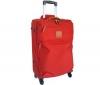 BRIC'S X-travel Kufor Trolley 4 kolieska 60cm červený + Cestovná súprava s nafukovacím vankúšom