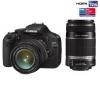 CANON 550D + objektívy EF-S 18-55 IS & EF-S 55-250 IS + Ruksak Expert Shot Digital - čierny/oranžový  + Pamäťová karta SDHC 16 GB + Batéria lithium ion LP-E8 + Ľahký statív Trepix