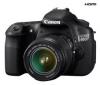 CANON EOS   60D - Digital camera - SLR - 18.0 Mpix -  EF-S 18-55mm IS lens - optical zoom: 3 x - supported memory: SD, SDXC, SDHC + Ruksak Expert Shot Digital - čierny/oranžový  + Pamäťová karta SDHC Premium 32 GB 60x + Batéria LP E6 + Ąahký stat