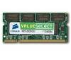 CORSAIR Pamäť Value Select SO-DIMM 512 MB PC 2700 (VS512SDS333) - záruka 10 rokov