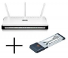 D-LINK Router WiFi DIR-655 switch 4 porty + Karta ExpressCard/34 WiFi DWA-643 802.11n/g/b