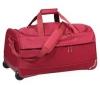 DELSEY Fiber Lite Trolley cestovná taška 2 kolieska 63cm červená  + Fiber Lite Trolley Kabínkový kufor 2 kolieska 50cm červený