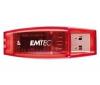EMTEC Kľúč USB 2.0 C400 4 GB - červený + Hub USB 4 porty UH-10