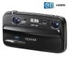 FUJI FinePix  film  REAL 3D W3 - Digital camera - 3D - compact - 10.0 Mpix - optical zoom: 3 x - supported memory: SD, SDHC + Puzdro Pix Medium + vrecko čierne  + Pamäťová karta SDHC 16 GB + Kompatibilná batéria FUJ50