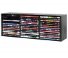 HAMA Polieka z farbeného dreva eierna pre 39 DVD so systémom vyhadzovania diskov