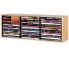 HAMA Polieka z farbeného dreva hetre pre 39 DVD so systémom vyhadzovania diskov