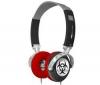 IFROGZ Zatvorené slúchadlá EarPollution NervePipe - Hazard / ChromeBlack + Adaptér Jack samica stereo 3,52 mm kovový/Jack samec stereo 6,35 mm kovový - Pozlátený