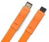 LACIE Kábel FireWire 400 na FireWire 800 Flat Cables - 1,2m - oranžový (130849)