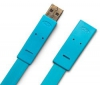 LACIE Kábel USB 2.0 A samec na A samica Flat Cables - 1,2m - modrý (130847)