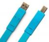 LACIE Kábel USB 2.0 A samec na B Flat Cables - 1,2m - modrý (130845)