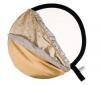 LASTOLITE Skladací okrúhly reflektor 95 cm strieborný/biely