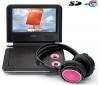 LENCO Prenosný DVD prehrávač DVP-733 ružový