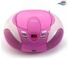 LENCO Rádio CD/MP3/USB prehrávač SCD-37 ružový